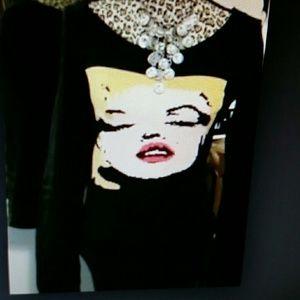 Marilyn Monroe sweater. Betsey  Johnson